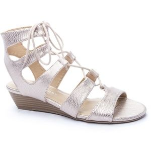 Chinese Laundry Most Lace Up Wedge Sandals